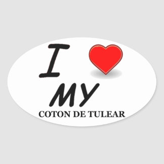 coton de tulear oval sticker