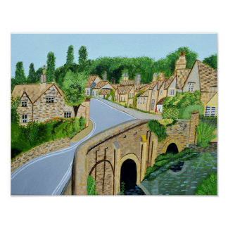 Cotswold English Village Poster