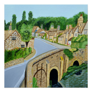 Cotswold Village England Poster
