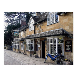 Cotswolds England Country Pub Postcard