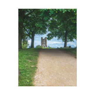 Cotswolds path to Broadway Tower canvas print