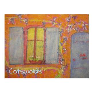 Cotswolds Wisteria Cottage Postcard