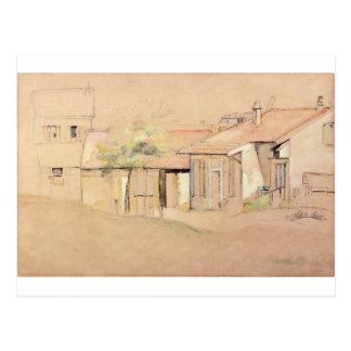 Cottaages by Paul Cezanne Postcard