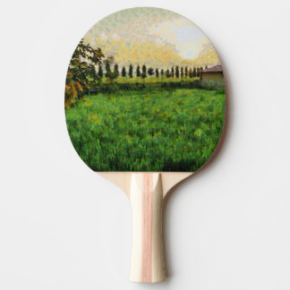 Cottage and farm ping pong paddle