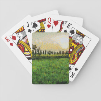 Cottage and farm playing cards