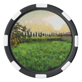 Cottage and farm poker chip set