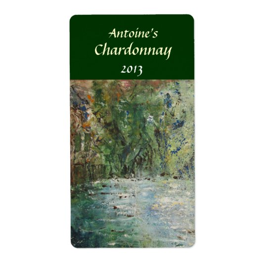 Cottage and Pond Wine Label