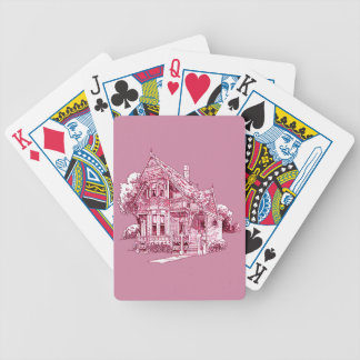 Cottage Bicycle Playing Cards