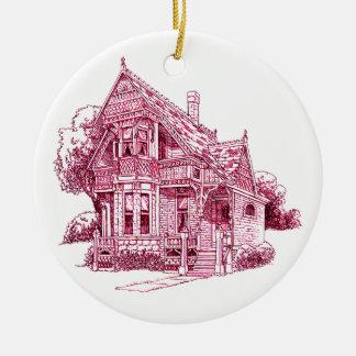 Cottage Ceramic Ornament