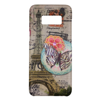 Cottage Chic butterfly scripts paris eiffel tower Case-Mate Samsung Galaxy S8 Case