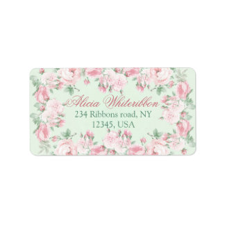 Cottage chic floral personalized address labels