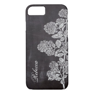 Cottage Chic french country chalkboard botanical iPhone 8/7 Case