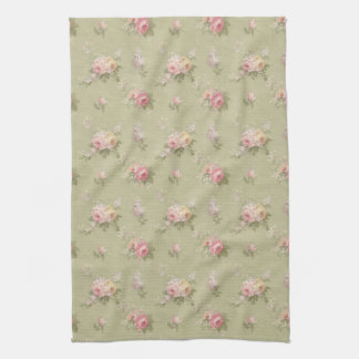 Cottage Chic Roses Tea Towel
