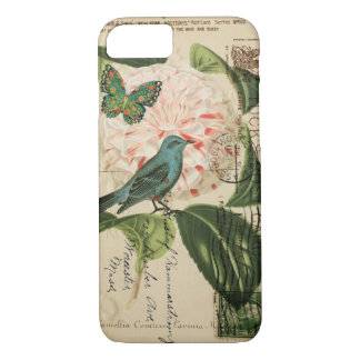 Cottage Chic Vintage Bird french botanical art iPhone 8/7 Case