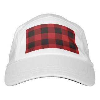 cottage Christmas Red buffalo lumberjack plaid Hat