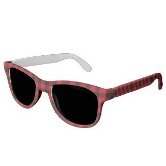 cottage Christmas Red buffalo lumberjack plaid Sunglasses