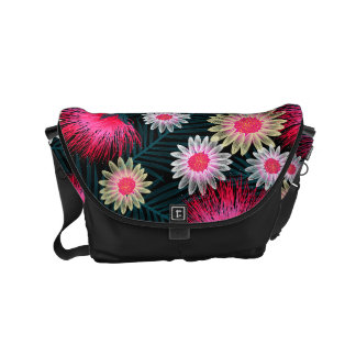 Cottage floral printed embroidery commuter bags