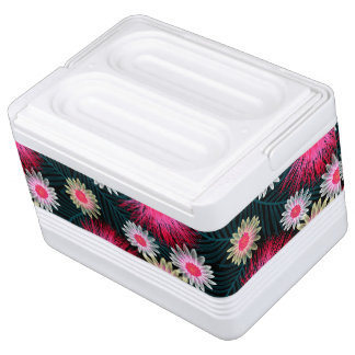 Cottage floral printed embroidery cooler