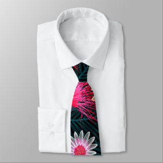 Cottage floral printed embroidery tie