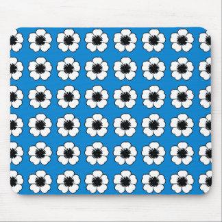 Cottage-Floral_Vintage-Modern-Decor-Blue_Unisex Mouse Pad