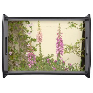 Cottage Foxglove Flower Garden Serving Tray