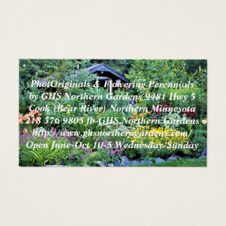 Cottage Garden as Dusk Business Card