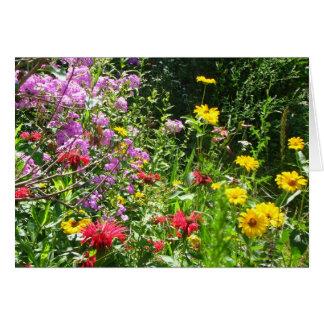 Cottage Garden Background Card