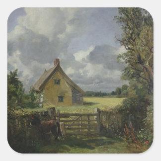 Cottage in a Cornfield, 1833 Square Sticker