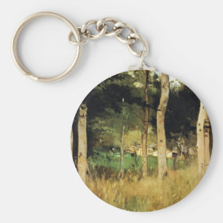 Cottage in Normandy by Berthe Morisot Key Chain