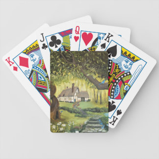 Cottage in the Woods Bicycle Playing Cards