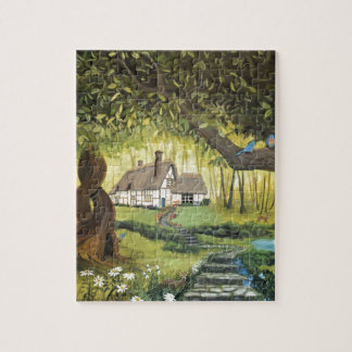 Cottage in the Woods Jigsaw Puzzle