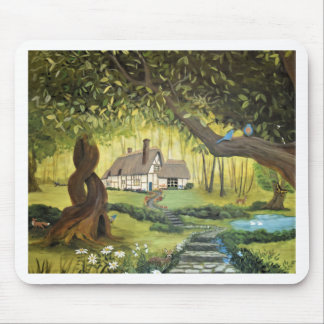Cottage in the Woods Mouse Pad