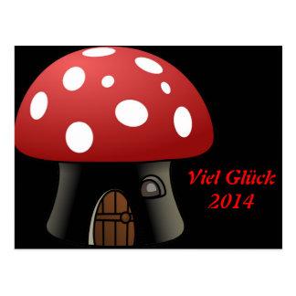 cottage mushroom, 2014 postcard