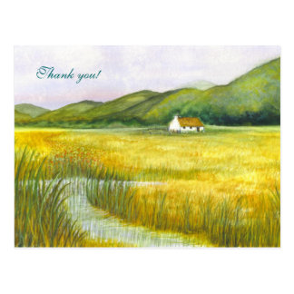 """""""Cottage on the Fens"""" Thank you! Postcard"""