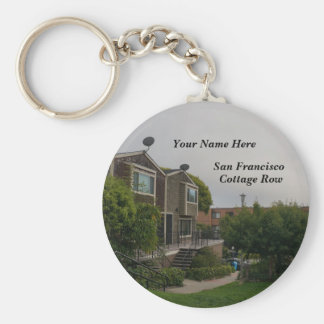 Cottage Row Victorian Houses Keychain