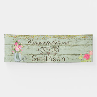 Cottage Wedding Banner - Personalised