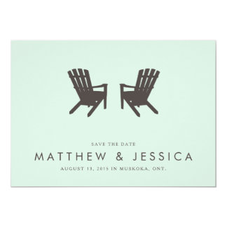 Cottage Wedding Save the Date // 5 x 7 Invitation