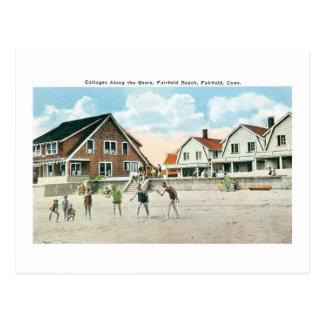 Cottages Along the Shore, Fairfield, Conneticut Postcard