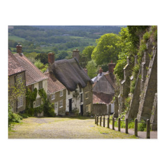 Cottages at Gold Hill, Shaftesbury, Dorset, Postcard