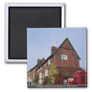 Cottages, old phone box, Kenilworth, Warwickshire, Magnet