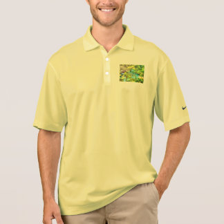 Cottages surrounded by water polo shirt