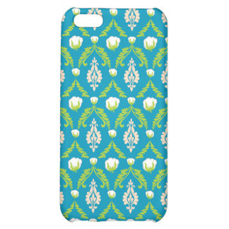 Cotton Boll Damask iPhone 4 Case