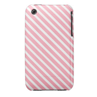 COTTON CANDY a pink stripe design iPhone 3 Case-Mate Case
