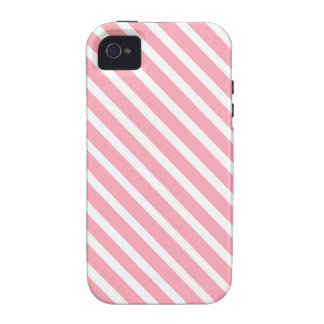 COTTON CANDY a pink stripe design Vibe iPhone 4 Case
