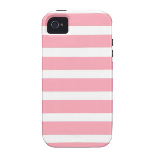 COTTON CANDY a pink stripe design Case-Mate iPhone 4 Cover