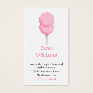 Cotton Candy Children Calling Card