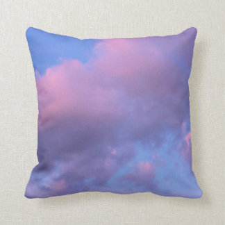 Cotton Candy Clouds at Sunset Cushion
