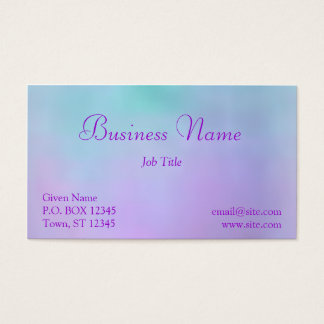Cotton Candy Clouds Business Card