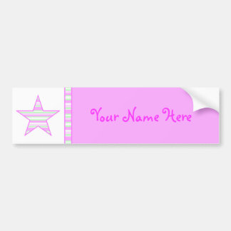 Cotton Candy Collection Bumper Sticker