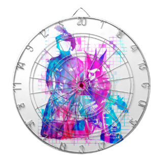Cotton Candy Goth Girl and Punk Dude Dartboard